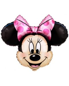 Globo Metálico Personaje SuperShape Cara Minnie Mouse 36""