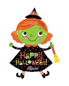 Globo Metalico #36 halloween cute witch