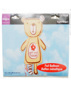 Globo Metalico Super Shape Ballon Oso Get Well Soon! 89cm x 51cm