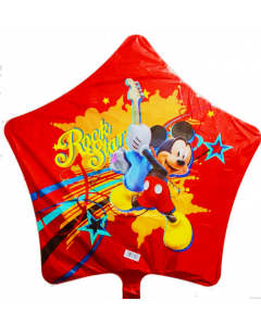 """Globo Metálico Mikey Mouse Rock Star 18"""""""
