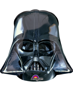 Globo Metalico Stars Wars Super Shape Darth Vader Helmet Black 36""