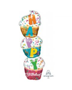 Globo Metalico Cmpleaños Supershape Cupcake 36""