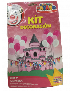 globo payaso kit decoracion princesas