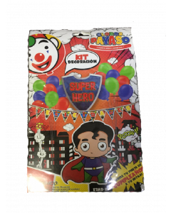 globo payaso kit decoracion superheroes
