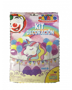 globo payaso kit decoracion unicornio