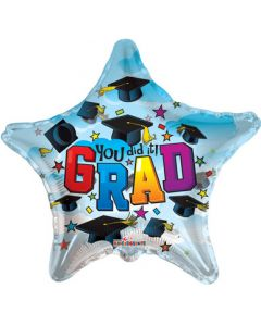 "Globo Metálico 18"" Graduación Estrella Azul You Did It! (Incluye Iva)"