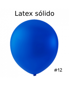 "Globo Látex Sólido Color Azul Royal 12"" (50 piezas)"