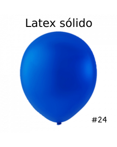 "Globo Latex Solido Color Azul Rey 24"" ( 3 Piezas )"