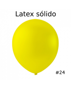 "Globo Latex Solido Color Amarillo 24"" ( 3 Pieza )"