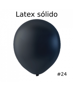 "Globos Latex Solido Color Negro 24"" ( 3 Piezas )"