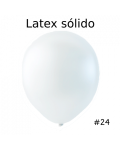 "Globo Latex Solido Transparente 24"" ( 3 Piezas )"