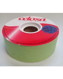 Liston Mate Celosa # 9 Liso Color lima 40 mts Para Envoltura de Regalo