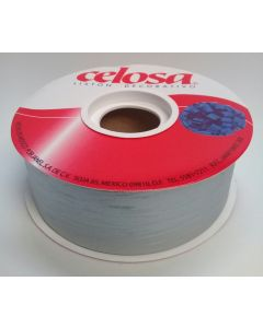 Liston Mate Celosa # 9 Liso Color Plata 40 mts Para Envoltura de Regalo