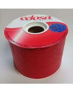 Liston Celosa Mate # 22  Color Rojo 40 mts Para Envoltura de Regalo