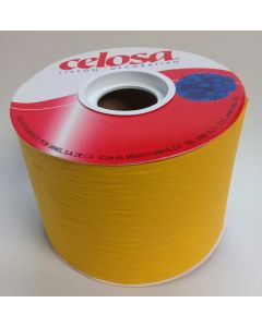 Liston Celosa Mate # 22  Color Amarillo 40 mts Para Envoltura de Regalo