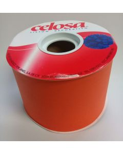 Liston Celosa Mate # 22  Color Naranja 40 mts Para Envoltura de Regalo