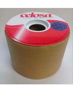 Liston Celosa Mate # 22  Color Dorado 40 mts Para Envoltura de Regalo