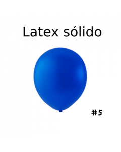 "Globo Látex Sólido Color Azul Royal 5"" (100 piezas)"