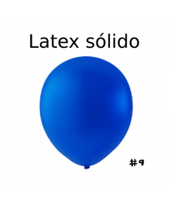 "Globo Látex Sólido Color Azul Royal  9"" (50 piezas)"